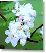 Apple Blossoms In The Spring - Painting Like Metal Print