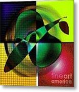 Apple Blur Metal Print by Iris Gelbart