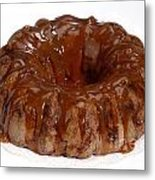 Apple Caramel Bundt Cake Metal Print
