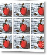 Apple Collage Metal Print