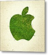 Apple Grass Logo Metal Print
