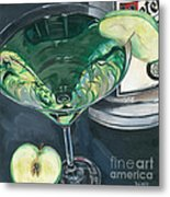 Apple Martini Metal Print by Debbie DeWitt