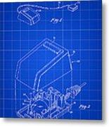 Apple Mouse Patent 1984 - Blue Metal Print