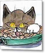 Apple Pie Vs. Hungary Cat Metal Print