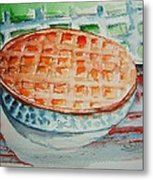Apple Pie With Lattice Crust Metal Print