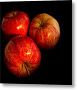 Apple Trio Metal Print