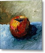 Apple With Olive And Grey Metal Print