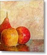 Apples And A Pear II Metal Print