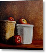 Apples And Jars Metal Print