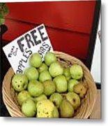 Apples And Pears Metal Print by Joan Meyland