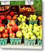 Apples At Farmer's Market Metal Print
