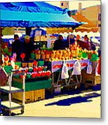 Apples Cortlands Lobos Honey Crisps Mcintosh Atwater Market Apple Fruit Stall Foodart Carole Spandau Metal Print