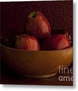 Apples In Bowl Still Life Metal Print