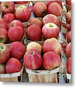 Apples In Small Baskets Metal Print