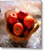 Apples On The Table Metal Print