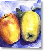 Apples Paired Metal Print