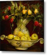 Apples Pears And Tulips Metal Print