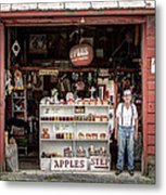 Apples. The Natural Temptation - Farmer And Old Farm Signs Metal Print