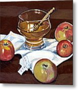 Apples With Honey Metal Print