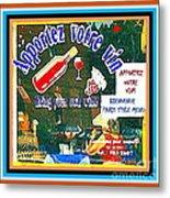 Apportez  Votre Vin Vintage French Bistro Signage Paris Style Menu Poster Decor Painting Cspandau Metal Print