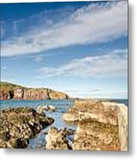 Approach To St Abbs Harbour Metal Print