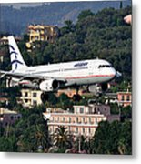 Approaching Corfu Airport Metal Print