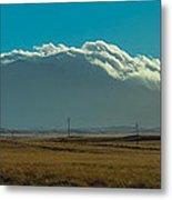 Grassland Approaching Humphreys Peak Metal Print