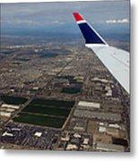 Approaching Phoenix Az Wing Tip View Metal Print