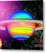 Approaching Saturn From The East Metal Print