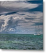 Approaching Storm At Whale Harbor Metal Print