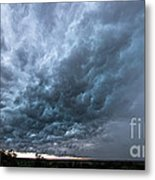Approaching Storm Over Belton-sunset Metal Print