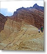 Approaching The Jagged Peaks In Golden Canyon In Death Valley National Park-california  Metal Print