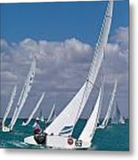 Approaching The Mark Metal Print