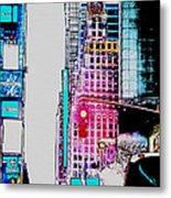 Approaching Times Square Metal Print