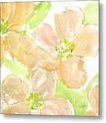 Apricot Quince Metal Print