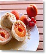 Apricotknoedel Metal Print