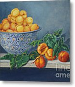 Apricots And Peaches Metal Print by Enzie Shahmiri