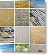 April Beach Metal Print by Michelle Calkins
