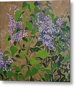 April Lilacs Metal Print