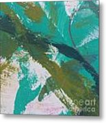 Aqua And Green Metal Print