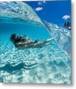 Aqua Dive Metal Print