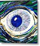 Aqua Eye Metal Print
