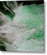 Aqua Falls Metal Print