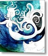 Aqua Mermaid Metal Print