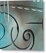 Aqua Mist By Madart Metal Print