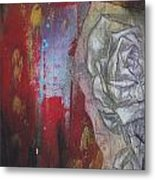 Aqua Red Rose No.3 Metal Print