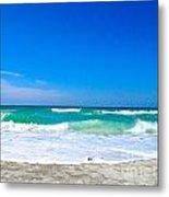 Aqua Surf Metal Print
