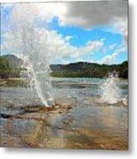 Aquatic Eruption Metal Print