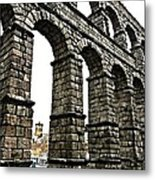 Aqueduct Of Segovia - Spain Metal Print by Juergen Weiss