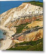 Aquinnah Clay Cliffs Marthas Vineyard Metal Print